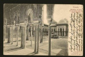 Postmarked 1904 Granada Spain R Garzon UPU Photo Postcard