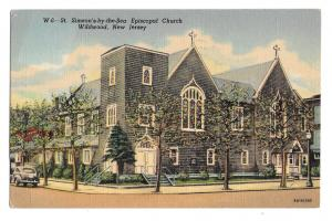 NJ Wildwood Episcopal Church St Simeons by the Sea Vintage Boyer Linen Postcard
