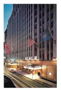 NY Hotel Edison W of Broadway New York City Vtg Postcard