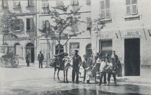 GIBRALTAR, 00-10s ; Vegetable Sellers, Donkey