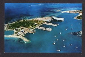 PR ISLETA Marina Boats FAJARDO PUERTO RICO Postcard PC