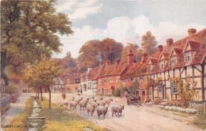 WORCESTERSHIRE UK ELMLEY CASTLE WORKS ~A R QUINTON ARTIST POSTCARD