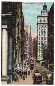 Wall Street and Trinity Church, N.Y. City