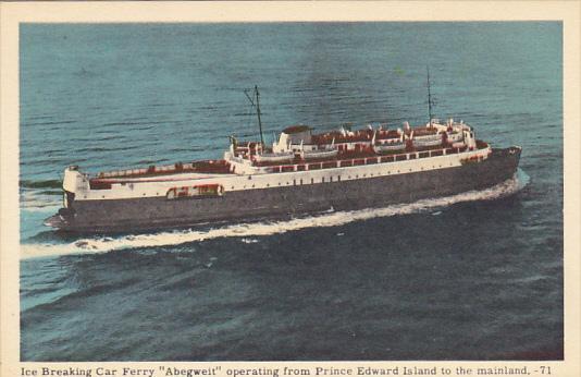 Canada M V Abegweit Car Ferry Operating Prince Edward Island to Mainland
