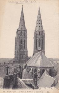 SAINT LO, Manche, France, 1900-1910's; Fleche Et Abside De La Cathedrale