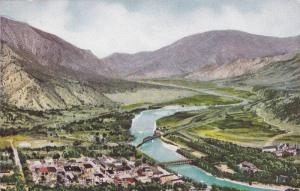 Aerial View, Glenwood Springs, Colorado, 1900-1910s