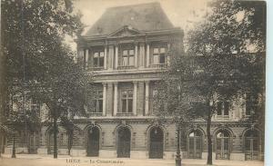 Liege Belgium~Le Conservatoire Royal~Royal Conservatory of Liege 1940 B&W