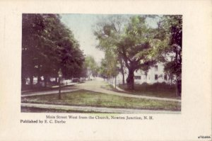 MAIN STREET WEST FROM THE CHURCH NEWTON JUNCTION, NH published by E.C. Darbe