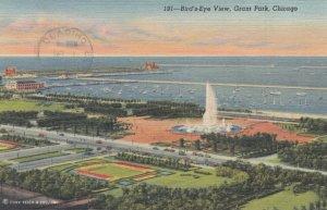 CHICAGO, Illinois, 1950 ; Bird's Eye View, Grant Park