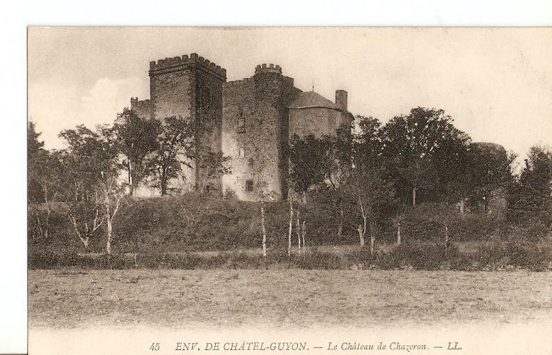 Postal 028809 : Env. De Ch?el-Guyon - Le Ch?eau de Chazeron