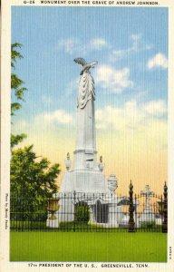TN - Greeneville. Monument Over Grave of Andrew Johnson