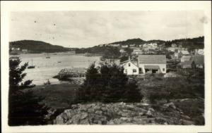 Cutler ME General View c1940s Real Photo Postcard #1