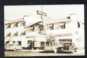 RPPC GRAND COULEE WASHINGTON WILD LIFE HOTEL OLD CARS REAL PHOTO POSTCARD