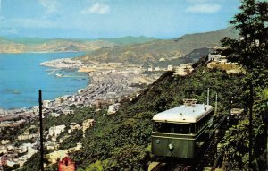 View From The Peak HONG KONG Tramways CHINA c1950s Vintage Postcard