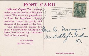 India & Ceylon Tea A Tea Picker 1908 sk4464