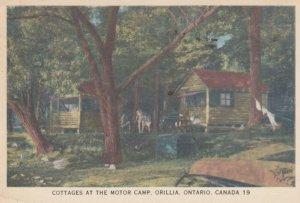 ORILLIA , Ontario , Canada , 1940 ; Cottages at the Motor Camp
