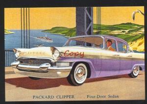 1957 PACKARD CLIPPER CAR DEALER ADVERTISING POSTCARD '57 PACKARD