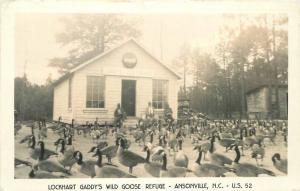 Ansonville North Carolina  Lockhart Gaddy's Wild Goose Refuge 1958 RPPC 9705
