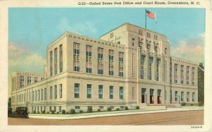 Postcard United States Post Office And Court House, Greensboro, NC
