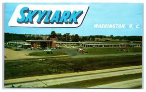 1950s Skylark Motel and Dining Room, Springfield, VA, Washington DC Postcard