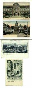 pc736 postcard Germany Switzerland Gruss Aus FOUR MOB