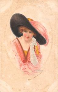 Giant Fancy Hat, Glamorous Dress, Beautiful Lady, The Gibson Art 1914