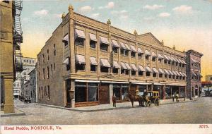 Virginia Va Postcard NORFOLK Hampton Roads c1910 HOTEL NEDDO 9