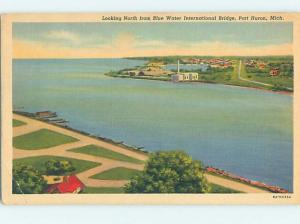 Linen WATER SCENE Port Huron Michigan MI hk2720