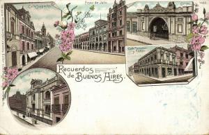 argentina, BUENOS AIRES, Calle Suipacha, Coligeo, Banco Hipotecario (1900)
