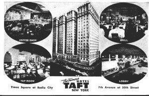 New York City Hotel Taft Coffee Shop Grill Tap Room & Lobby