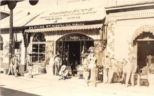 F61/ Foreign RPPC Postcard Mexico Nogales c1940s Elias St Curios Store