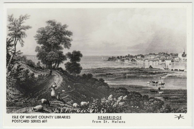 Isle of Wight Libraries Series 601; Bembridge From St Helens RP PPC, By Pamlin