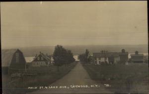 Caywood NY Main St. & Lake Ave c1915 Real Photo Postcard