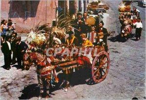 Postcard Modern Sicilian Cart