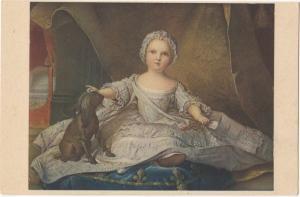 MARIA ZEFFIRINA, Nattier, Galleria Uffizi, Firenze, unused Postcard