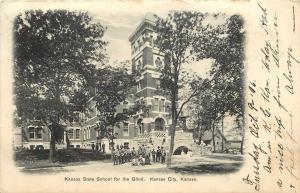 Vintage Lithographed Postcard; Kansas State School For the Blind, Kansas City KS