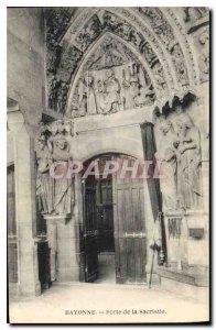Postcard Old Bayonne Gate sacristan