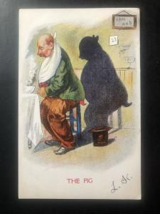 Mint USA Humor Color Picture postcard PPC the Pig