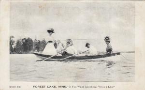 FOREST LAKE , Minnesota , 1910 ; Woman fishing