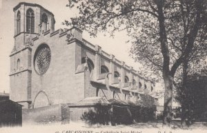 CARCASSONNE, France, 1910-1920s, Cathedrale Saint-Michel