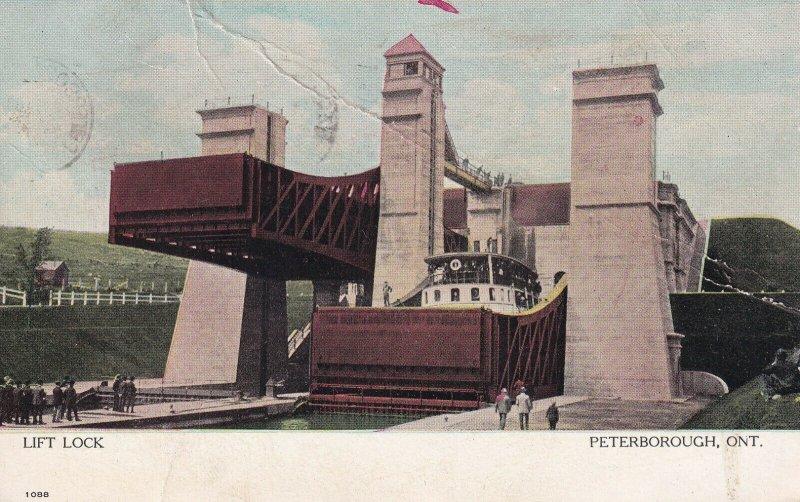 PETERBOROUGH, Ontario, Canada, PU-1907; Lift Lock