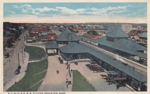 BROCKTON , Mass. , 00-10s ; N.Y.H. & H. Railroad Train Station