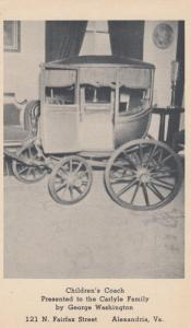 ALEXANDRIA, Virginia, 1901-07; Children's Coach, Presented to the Carlyle Family