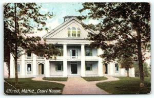 Postcard ME Alfred Court House 1908 Maine