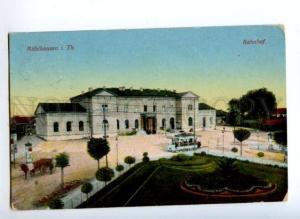172142 GERMANY Muhlhausen i Th. Bahnhof Station Old postcard