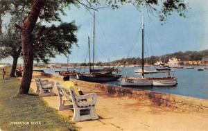 Lymington River Promenade Bench Harbour Boats Bateaux