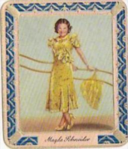 Garbaty Cigarette Card 1934 Modern Beauties No 150 Magda Schneider