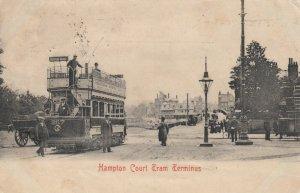 Hampton Court Tram Terminus, England , UK , 1903