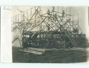 rppc Pre-1917 MANY PEOPLE WORKING ON CONSTRUCTION SITE AC8311