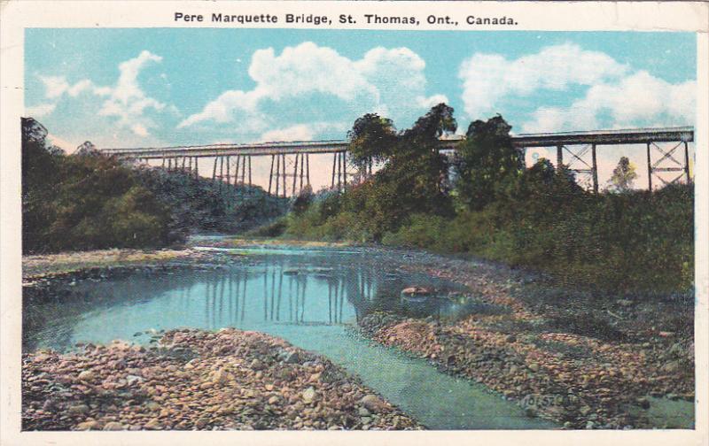 Pere Marquette Bridge, St. Thomas, Ontario, Canada, 1910-1920s